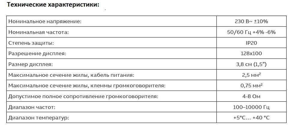 технические характеристики радио abb
